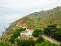 Vogelperspektive von Big- Surküstenlinie, Kalifornien Lizenzfreies Stockbild