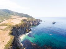 Vogelperspektive von Big- Surküstenlinie, Kalifornien Stockbilder
