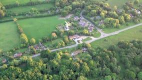 Vogelperspektive von Buckinghamshire-Landschaft stock video footage