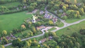Vogelperspektive von Buckinghamshire-Landschaft stock footage