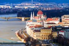 Vogelperspektive von Budapest, Ungarn stockfotografie