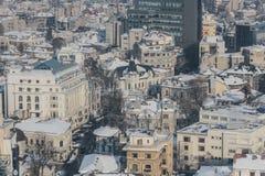 Vogelperspektive von Bukarest Stockbilder