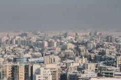 Vogelperspektive von Bukarest Stockbild