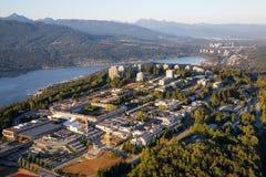 Vogelperspektive von Burnaby-Berg lizenzfreies stockfoto