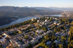 Vogelperspektive von Burnaby-Berg lizenzfreies stockbild
