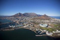 Vogelperspektive von Cape Town-Zentrale lizenzfreie stockfotos