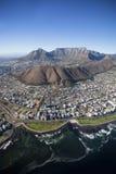 Vogelperspektive von Cape Town-Zentrale lizenzfreie stockfotografie