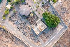 Vogelperspektive von Capernaum, Galiläa, Israel Lizenzfreies Stockfoto
