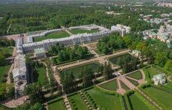 Vogelperspektive von Catherine-Palast und von Catherine-Park Lizenzfreies Stockfoto