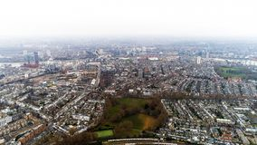 Vogelperspektive von Chelsea Fulham und von Pastor-Grün in den London-Stadt-Skylinen Lizenzfreie Stockfotos