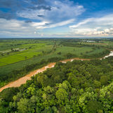 Vogelperspektive von Chi-Fluss Stockfoto