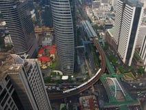Vogelperspektive von Chong Nonsi Skywalk Lizenzfreie Stockfotos