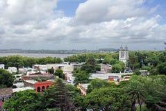 Vogelperspektive von Colonia, Uruguay stockbild