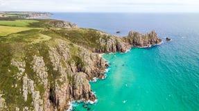 Vogelperspektive von Cornwall-Küste Lizenzfreie Stockfotografie