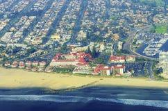 Vogelperspektive von Coronado-Insel, San Diego Lizenzfreie Stockfotos