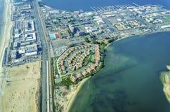 Vogelperspektive von Coronado-Insel, San Diego Lizenzfreies Stockfoto