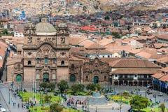 Vogelperspektive von Cuzco-Stadtperuanern Anden Lizenzfreies Stockbild