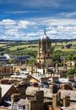 Vogelperspektive von Dächern und von Helmen von Oxford Lizenzfreie Stockfotografie