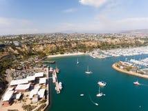 Vogelperspektive von Dana Point, Kalifornien Stockfotos