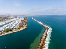 Vogelperspektive von Dana Point, Kalifornien Lizenzfreies Stockbild