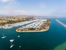 Vogelperspektive von Dana Point, Kalifornien Stockbild