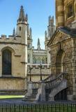 Vogelperspektive von Dächern und von Helmen von Oxford Stockbilder