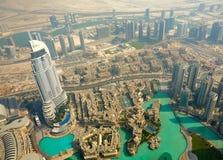 Vogelperspektive von Dubai, UAE Lizenzfreies Stockbild