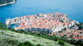 Vogelperspektive von Dubrovnik Ragusa Stockfotografie