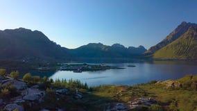 Vogelperspektive von Fjord stock video