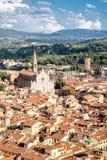 Vogelperspektive von Florenz mit Blick auf die Basilikadi Santa Croce Lizenzfreies Stockfoto