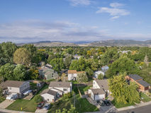 Vogelperspektive von Fort Collins Lizenzfreie Stockfotografie