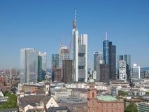 Vogelperspektive von Frankfurt lizenzfreies stockfoto