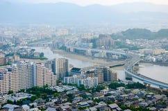 Vogelperspektive von Fukuoka Stockbild
