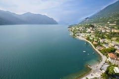 Vogelperspektive von Garda See Stockfotos