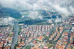 Vogelperspektive von Gebäuden in Istanbul lizenzfreie stockfotos