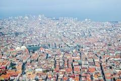 Vogelperspektive von Gebäuden in Istanbul lizenzfreies stockbild
