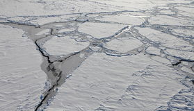 Vogelperspektive von gefrorenem Nordpolarmeer Stockfotografie