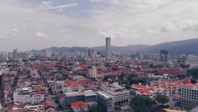 Vogelperspektive von Georgetown Penang, Malaysia stock footage