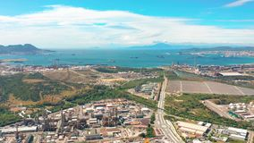 Vogelperspektive von Gibraltar, Vereinigtes Königreich von Großbritannien, Iberische Halbinsel, Europa stock video footage
