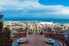 Vogelperspektive von Haifa, Israel stockfotografie