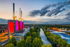 Vogelperspektive von Hannover, Deutschland lizenzfreies stockbild