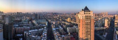 Vogelperspektive von Harbin, China lizenzfreie stockfotografie