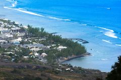 Vogelperspektive von Heilig-Leu bei Reunion Island stockbilder