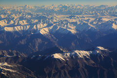 Vogelperspektive von Himalaja-Strecke auf dem Weg zu Leh Ladakh Lizenzfreie Stockfotografie