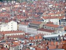 Vogelperspektive von im Stadtzentrum gelegenem Lyon Frankreich Stockbilder