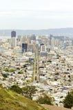 Vogelperspektive von im Stadtzentrum gelegenem San Francisco Lizenzfreies Stockfoto