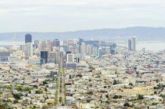 Vogelperspektive von im Stadtzentrum gelegenem San Francisco Stockfotos