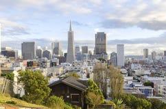 Vogelperspektive von im Stadtzentrum gelegenem San Francisco Lizenzfreie Stockfotos