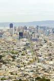 Vogelperspektive von im Stadtzentrum gelegenem San Francisco Stockfotografie