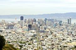 Vogelperspektive von im Stadtzentrum gelegenem San Francisco Stockfoto